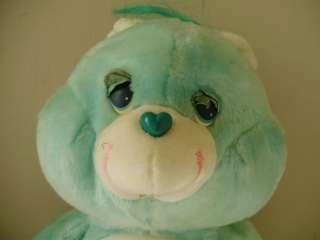 Care Bear Bedtime Bear 17 inch Plush Bear Moon & Star Belly Kenner