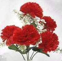 60 CARNATIONS ~ APPLE RED ~ Silk Wedding Flowers Bouquets Centerpieces