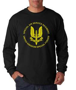 New SAS Special Air Service Logo T shirt Long Sleeve