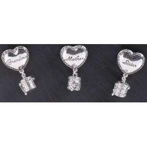 36 Grandma, Mother, & Sister, Heart Prayer Box Pins 2