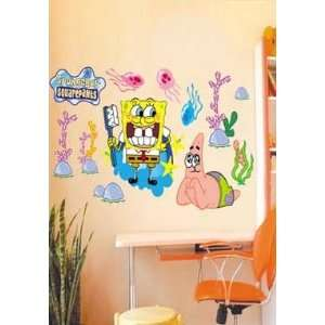 X Large Sponge Bob Square Pants Wall Sticker Decal for