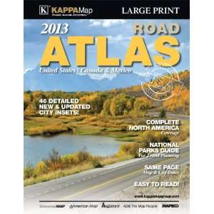 North America Large Print Road Atlas (2013) (9780762577521