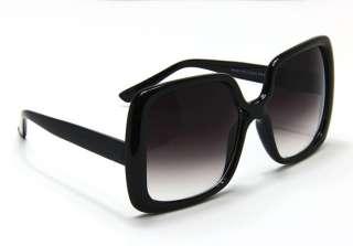 New Womens Vintage Style Black XL Oversized Jackie O Sunglasses