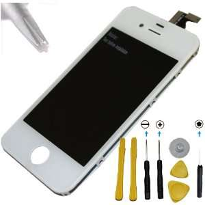 Iphone 4 Screen Digitizer LCD Replacement Repair Kit White
