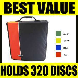 DVD Case Storage Wallet Disc Organizer Book Media DJ Bag Capacity 320