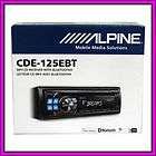 Alpine CDE 125EBT Bluetooth CD  USB iPod iPhone Receiver Audio