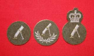 Cdn Army Trade Badges   INFANTRY MORTARMAN  Group 1,2,3