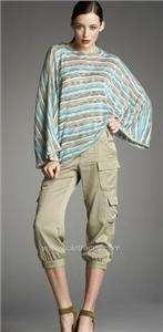 Haute Hippie Drapey Cargo Pants NEW NWT $295 Small Boho Chic Khaki