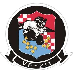US Navy VF 211 Fighting Checkmates Squadron Decal Sticker