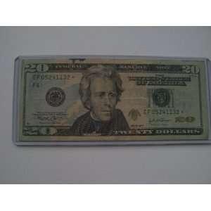 Twenty Dollars Star Note Series 2004 $20 Bill EF05241132