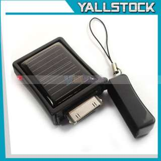 Lighter Shape 3G 3Gs iPhone4 Solar Power Charger Black