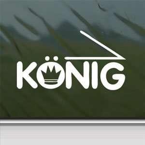 Konig White Sticker Car Window Vinyl Laptop White Decal