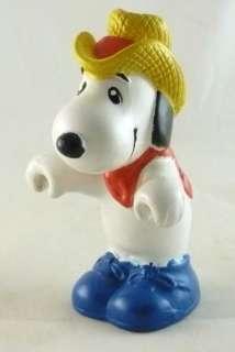 Vintage Snoopy Mini PVC Figurine Cowboy Hat Bandana Western