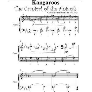 Animals Saint Saens Easy Piano Sheet Music Camille Saint Saens Books