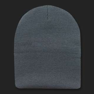 Gray Beanie Hat Skull Snowboard Winter Warm Knit Hats Cuffless Beanies