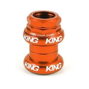 Chris King 2Nut Threaded BMX Headset 1 Inch Mango (Bright Silver Logo)