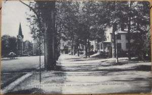 1930 PC: Park Street & Common Newport, New Hampshire NH