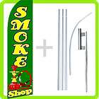 Feather Swooper Tall 15 Banner Sign Flag Kit  SMOKE SHOP gf