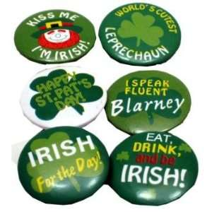 New   St Patricks Day Mini Shamrock Buttons Case Pack 144