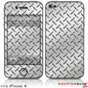 iPhone 4 Skin   Diamond Plate Metal (DOES NOT fit newer iPhone