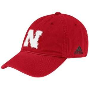 adidas Nebraska Cornhuskers Scarlet Basic Logo Slouch Hat