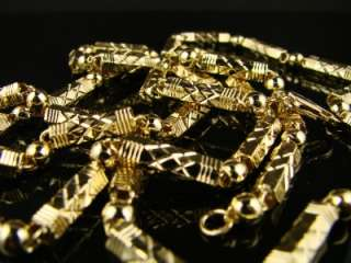 MENS YELLOW GOLD FINISH 5M BULLET CHAIN 36 DIAMOND CUT