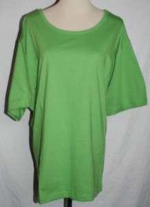 SILHOUETTES BASIC CREW NECK TEE   XL   GREEN   NWT