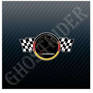 Motorsports Racing Flag Grand Prix Germany Track Trucks Sticker Decal