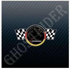 Motorsports Racing Flag Grand Prix Germany Track Trucks Sticker Decal