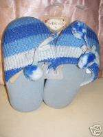 NWT  CLAIRES CLUB GIRLS BLUE PLUSH SLIPPERS SZ SMALL