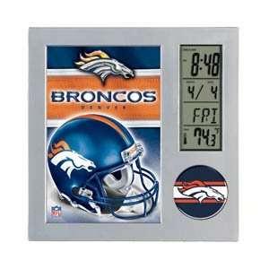 DENVER BRONCOS NFL Executive Team Desk Clock New Gift