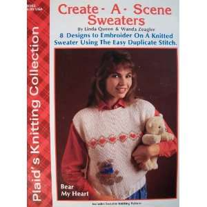 Create A Scene Sweaters Craft Book Linda Queen & Wanda Zeagler Books