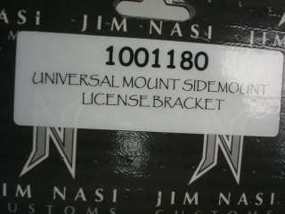JIM NASI UNIVERSAL LICENSE PLATE BRACKET SIDEMOUNT NEW