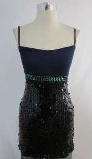 New Free People Indigo Sparkle Sequin Tank Dress 2 $88