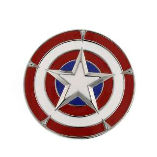 Marvel Comics Captain America Shield Belt Buckle 3 D Same Day Ship