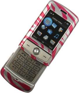 PINK SILVER ZEBRA SKIN COVER CASE FOR LG SHINE CU720