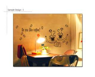 COFFEE TIME Vinyl Art Wall Window Decor Sticker Decals
