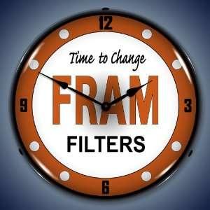 Fram Oil Filters Lighted Wall Clock
