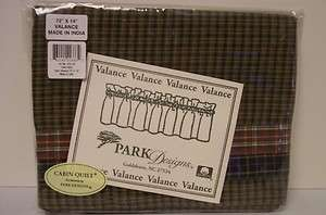 Park Designs Cabin Quilt 72 x 14 Inch Valance New in Package Cotton