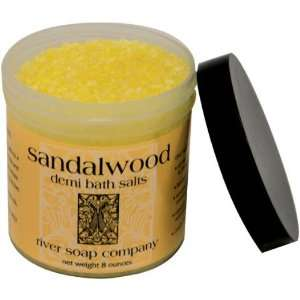 River Soap   Sandalwood Bath Salt   8 Oz: Health