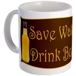 Save Water Drink Beer Funny Mug by CafePress:  Kitchen