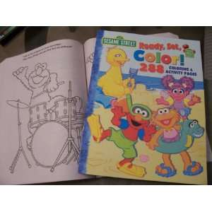 Sesame Street 288 Page Coloring & Activity Book ~ Ready