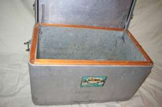 USA Made METAL Aluminum SPORTSMANS Camp COOLER Ice Chest