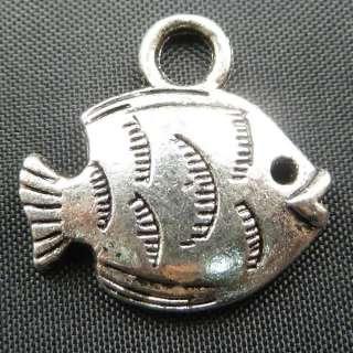 15pcs tibetan silver fish Charms 19x18mm