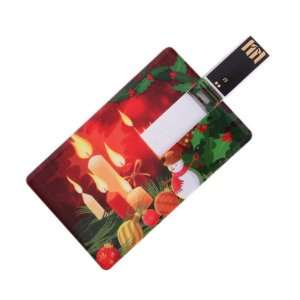 Pattern Credit Card Style USB Flash Memory Drive for Christmas Gift