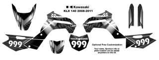 Kawasaki KLX 140 2008 11 MX Bike Decal Kit 7777Metal