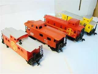 SMALL HO scale model train cars railroad railway caboose passenger