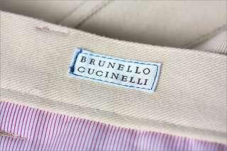 550 BRUNELLO CUCINELLI JEANS PANTS BEIGE 34 50e NWT