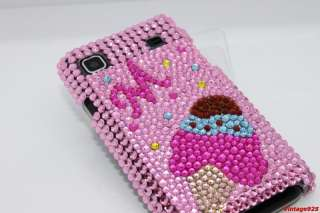 Ice Cream Pink Cute Samsung Galaxy S i9000 BLING Case $