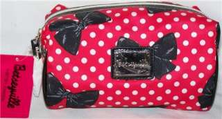 NEW BETSEYVILLE By BETSEY JOHNSON Red POLKA DOT & BOW Loaf COSMETIC